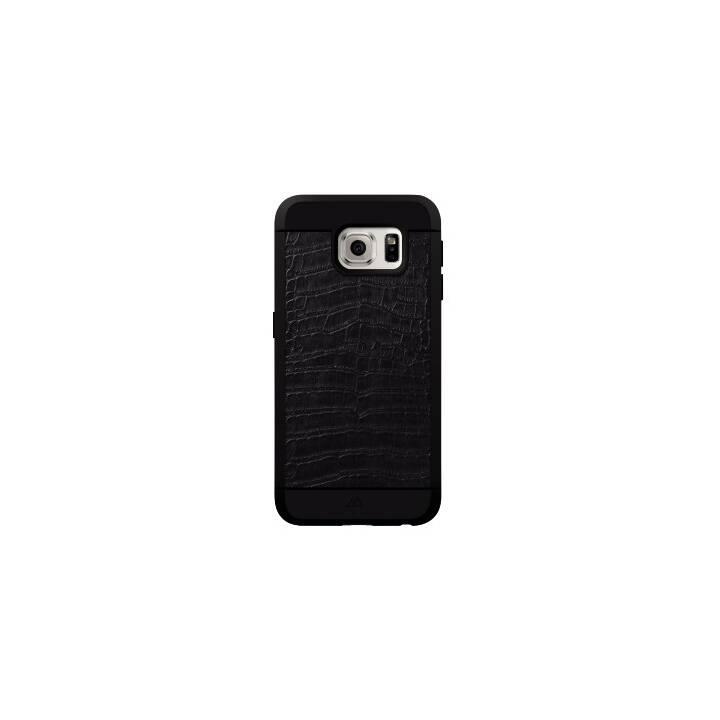 BLACK ROCK Backcover Croco (Galaxy S6, Nero)