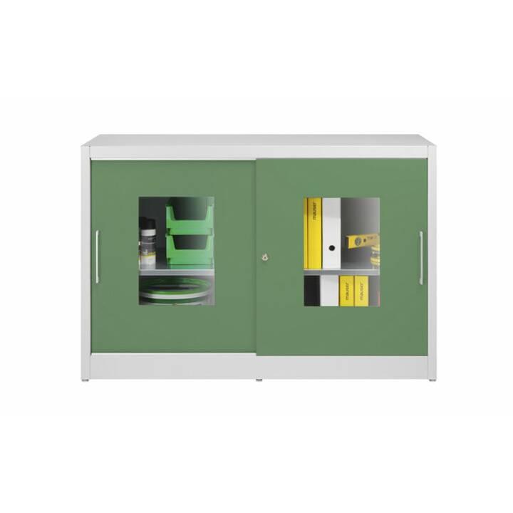 MAUSER Schiebetürschrank (Grün, Grau)