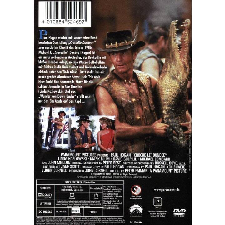 Crocodile Dundee 1 (FR, ES, IT, DE, EN)