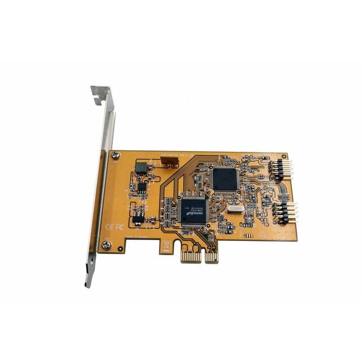 EXSYS Netzwerkadapterkarte (PCI Express, USB 2.0 Typ-A)