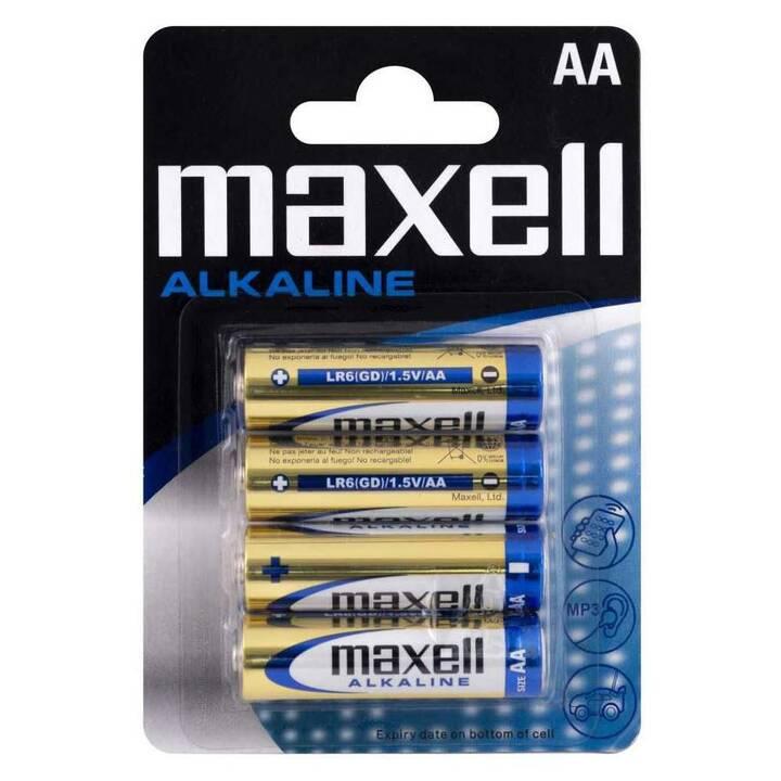 MAXELL Batterie (AA / Mignon / LR6, 4 pièce)