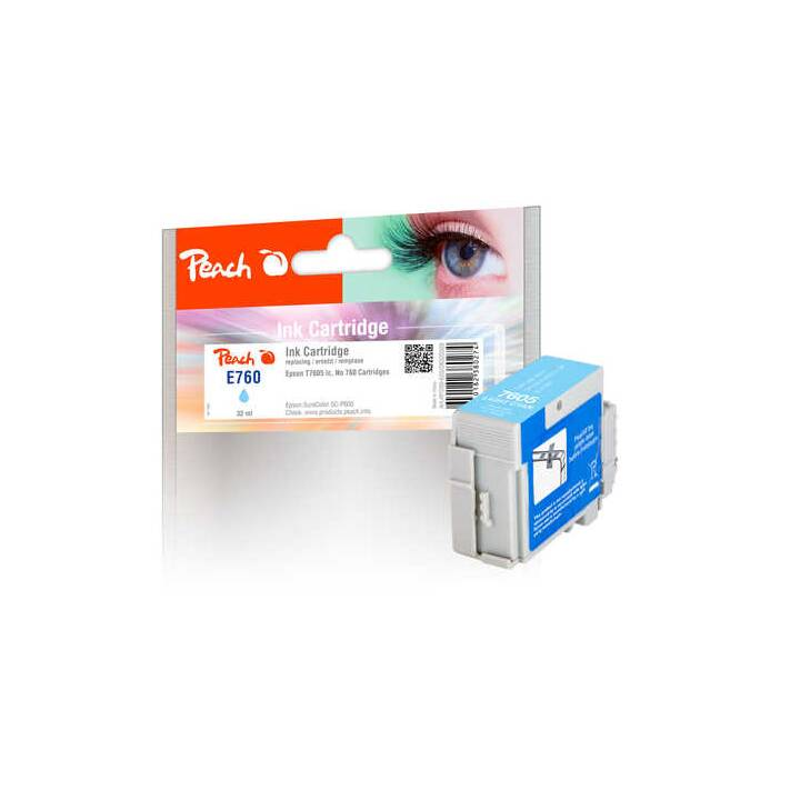 Encre PEACH Epson T7605, No760 Light Cyan