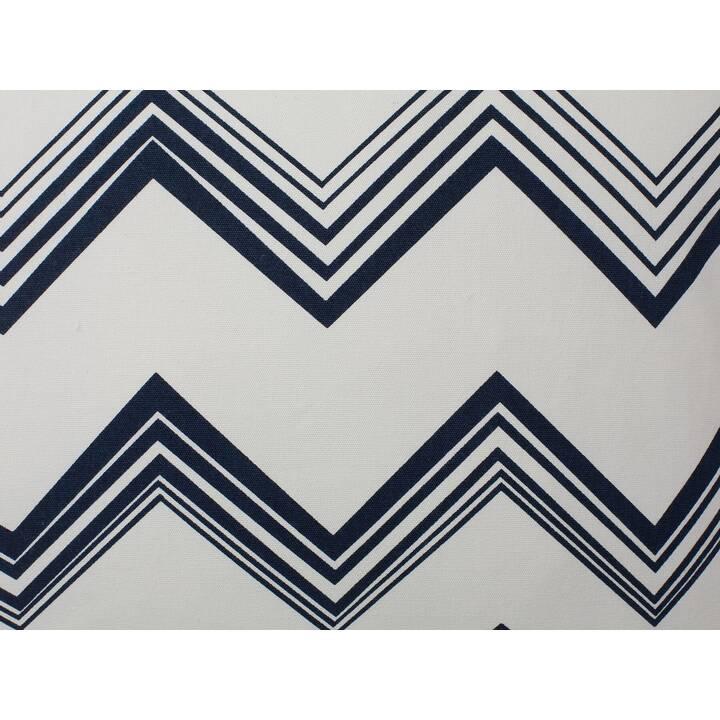 BELIANI Nerine Cuscino (45 cm x 12 cm, Bianco, Blu)
