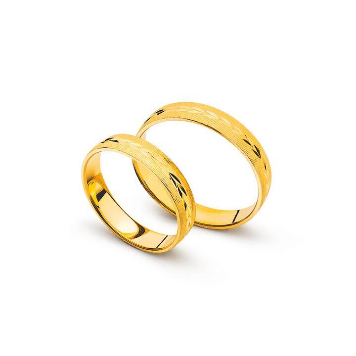 MUAU Matrimonio band (74, Oro giallo)