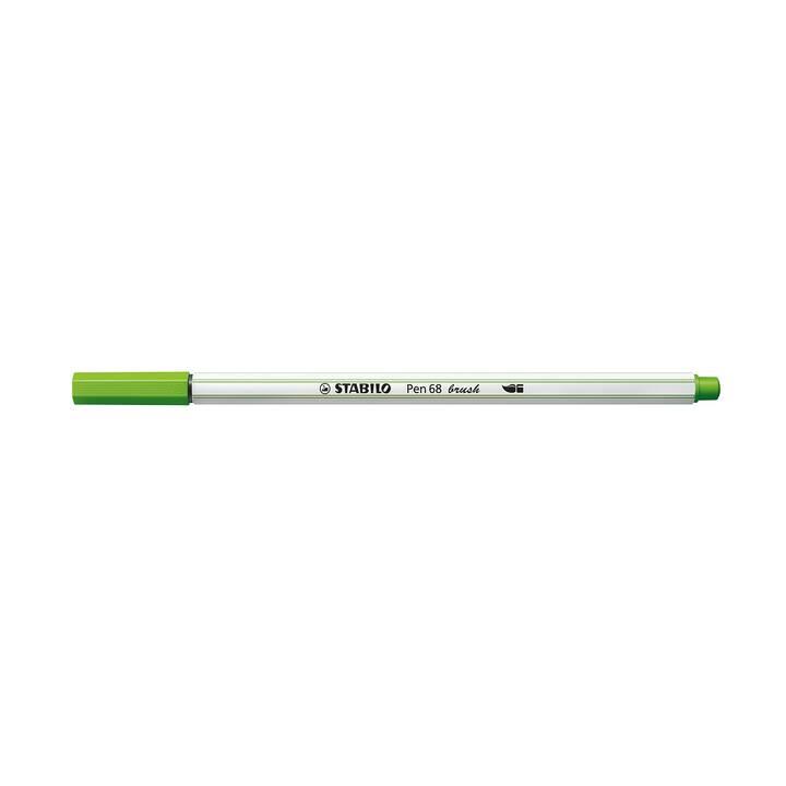 STABILO Medium 68 brush Filzstift (Grün, 1 Stück)