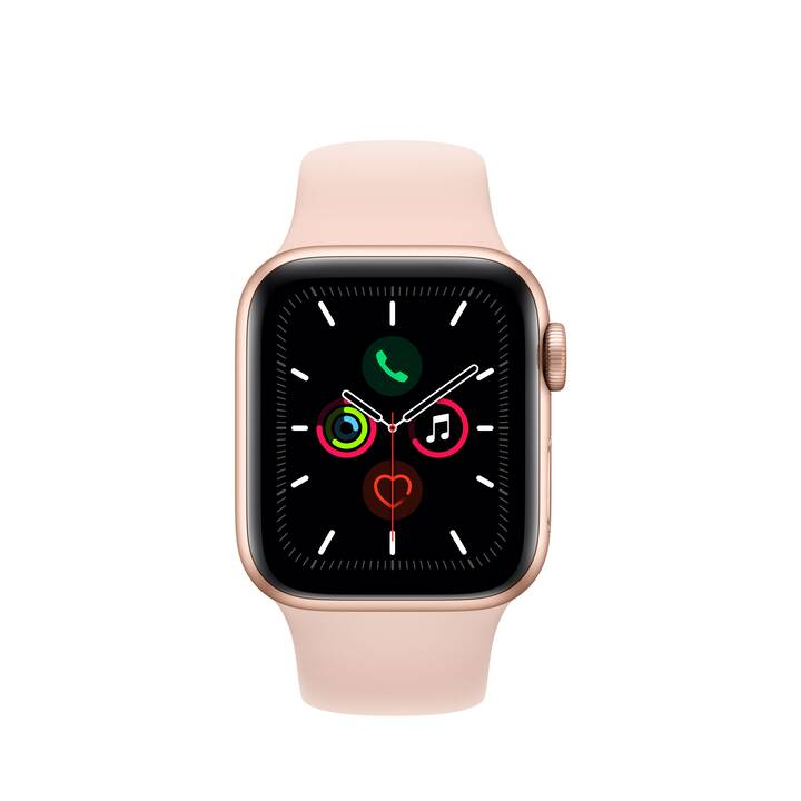 APPLE Watch Series 5 GPS + LTE Gold/Sandrosa (40 mm, Aluminium, Silikon)