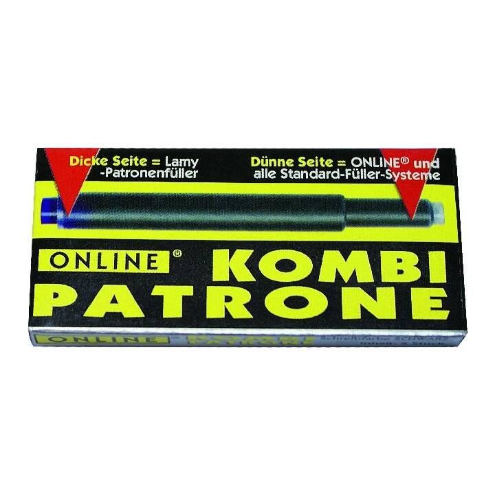 ONLINE Mine per penna a sfera Kombi (Nero, 12 pezzo)
