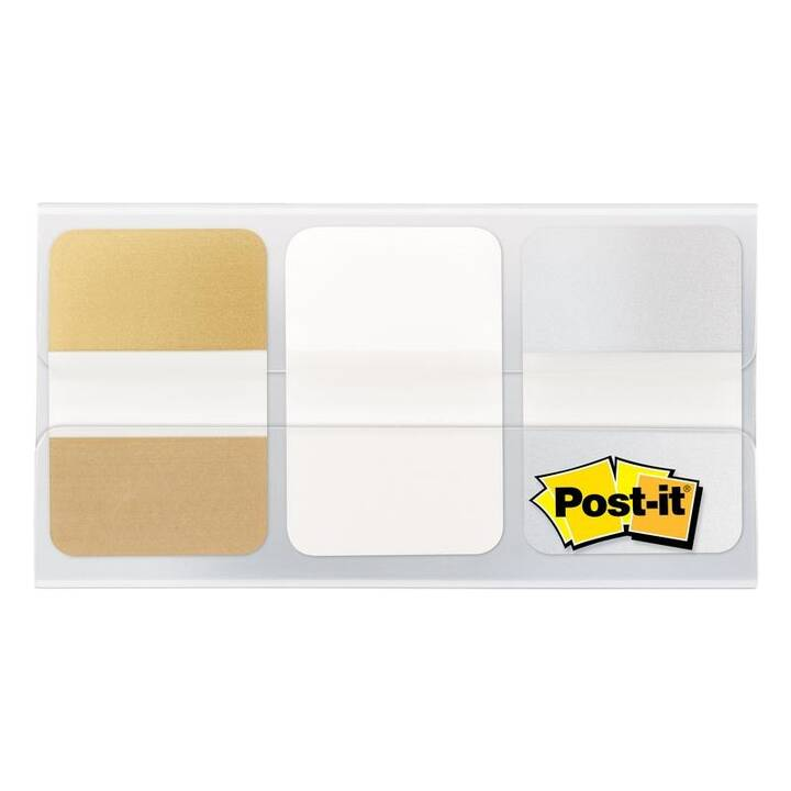 3M Blocchetti memo Page Marker Post-it Index (Bianco, Argento, Oro)
