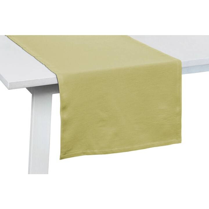 PICHLER Chemin de table One (50 cm x 150 cm, Rectangulaire, Jaune, Vert)