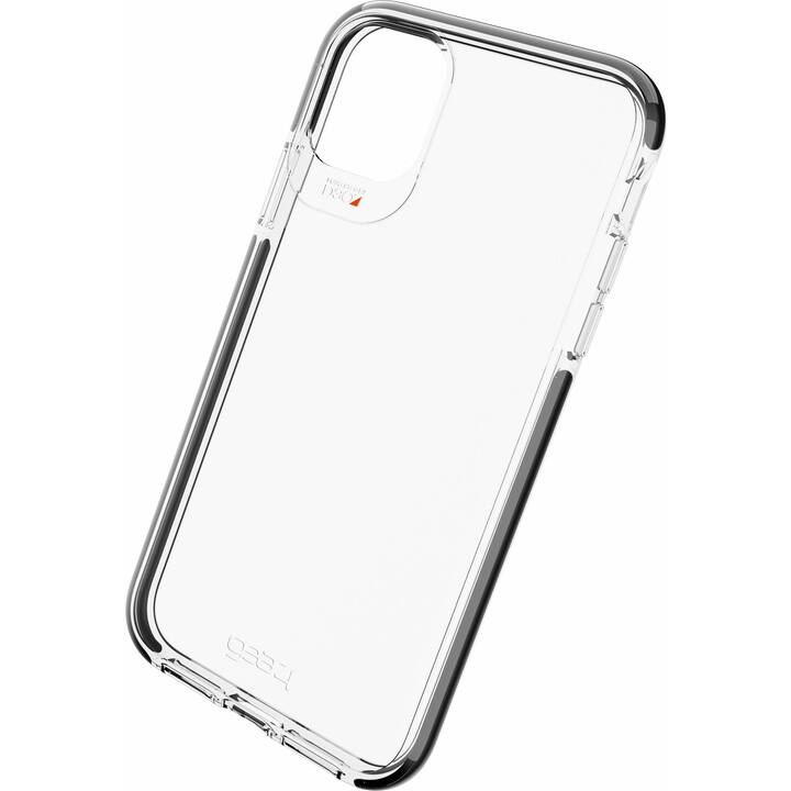 GEAR4 Backcover D3O Piccadilly  (iPhone 11, Transparent, Noir)