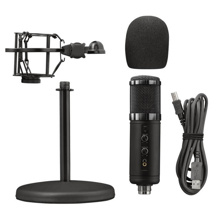 TRUST GXT 256 Exxo Microfono da tavolo (Nero)