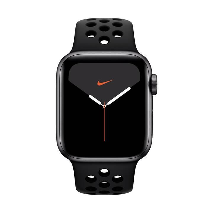 APPLE Watch Nike Series 5 GPS + LTE Space Grau/Anthrazit/Schwarz (40 mm, Aluminium, Silikon)