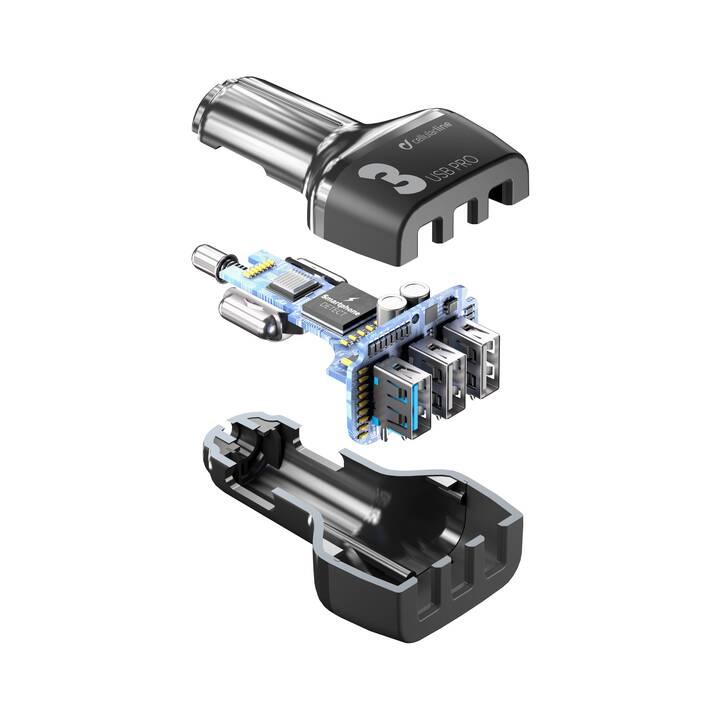 CELLULAR LINE Caricabatteria auto (42 W, Presa accendisigari, USB di tipo A)