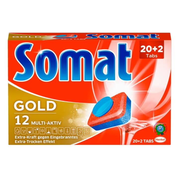 SOMAT 12 Gold Geschirrspültabs (22 Stk.)