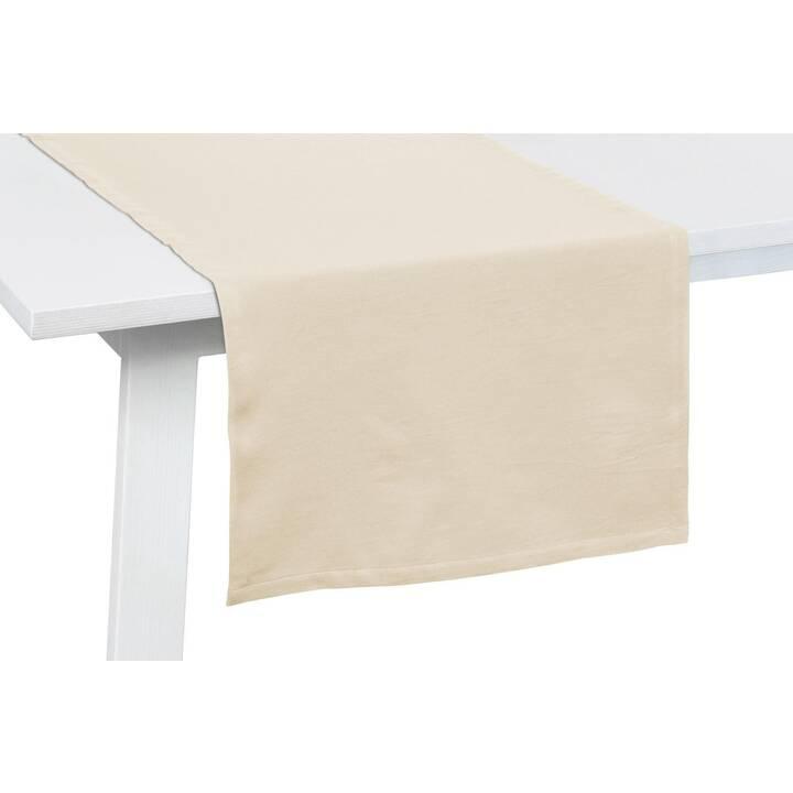 PICHLER Chemin de table (50 cm x 150 cm, Rectangulaire, Beige, Sable)