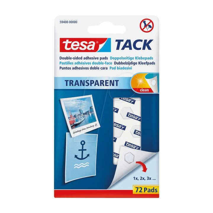 TESA Klebepad-Set TACK 72 Stück, Transparent