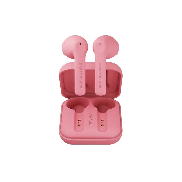 HAPPY PLUGS Air 1 Go (In-Ear, Bluetooth 5.0, Peach)