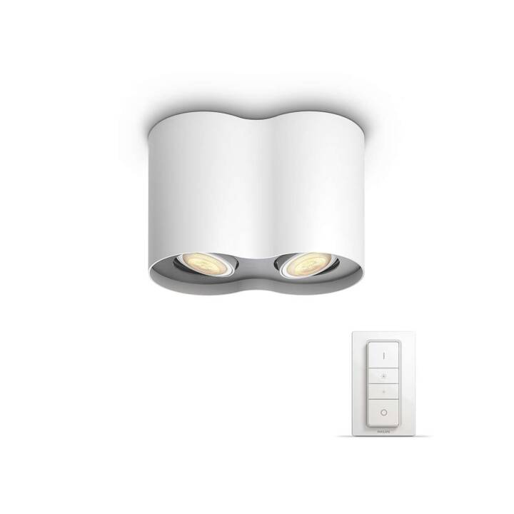 Philips Hue Pillar 2er Aufbauspot weiss (LED 5.5W)
