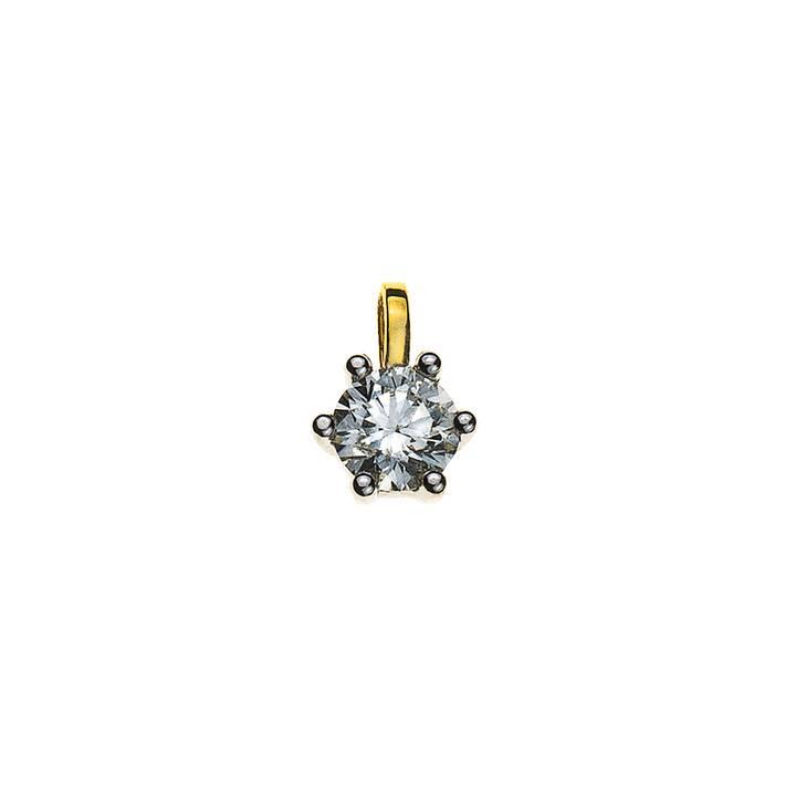MUAU 6-Griff-Fassung Anhänger (Diamant, 8 mm)