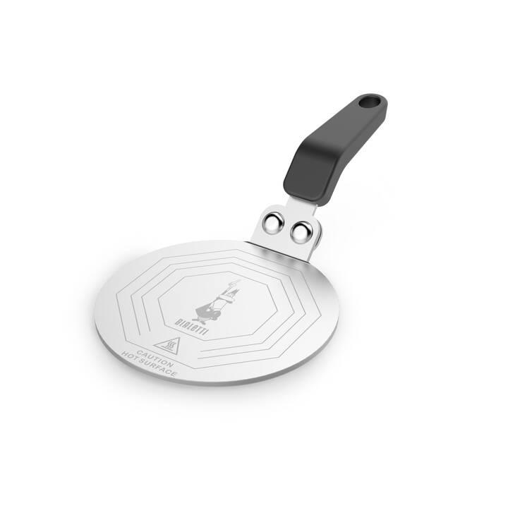 BIALETTI Moka Induktions-Adapterplatte (1 Stück, Edelstahl, Schwarz)