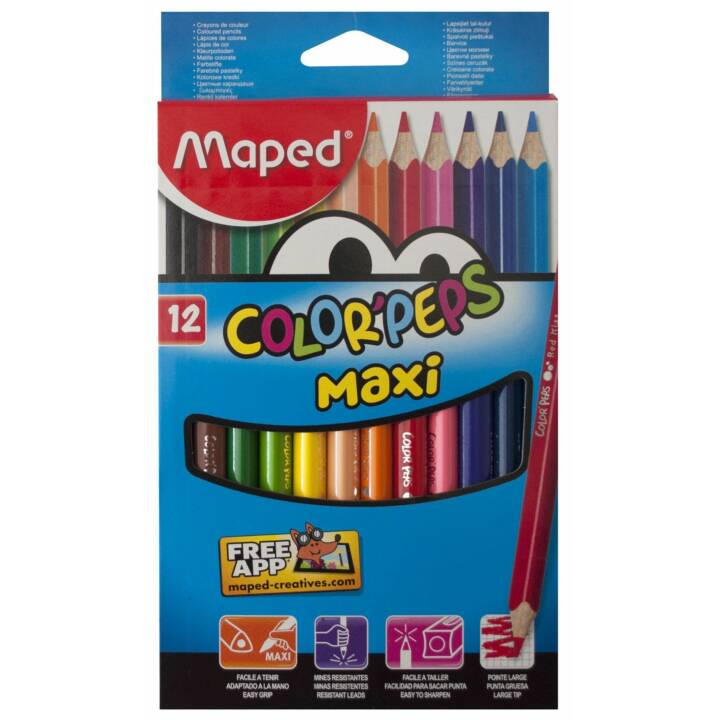 MAPED Farbstifte Color Peps Maxi 12 Stück