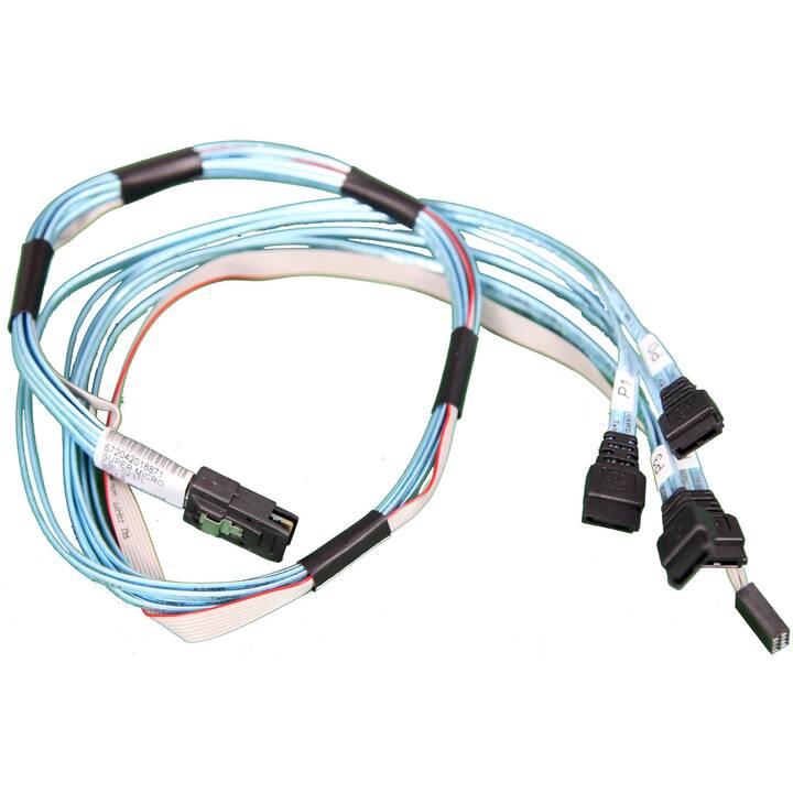 SUPERMICRO CBL-0237L Verbindungskabel (SATA, SFF-8087, 0.7 m)