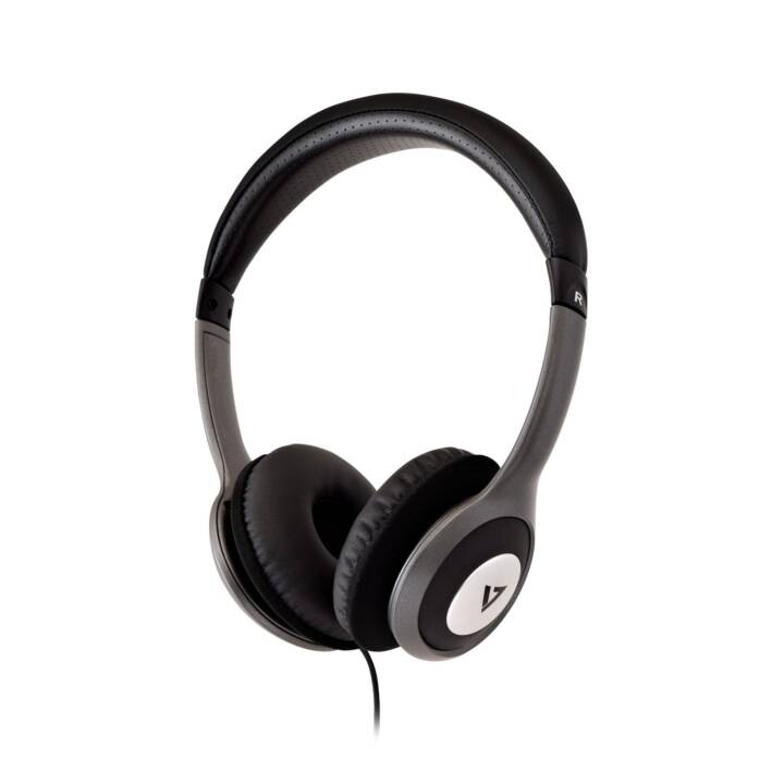 VIDEOSEVEN V7 HA520-2EP (On-Ear, Noir, Argent)
