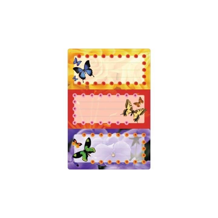 HERMA Etichette per la scuola Butterfly (Multicolore, 6 pezzo)