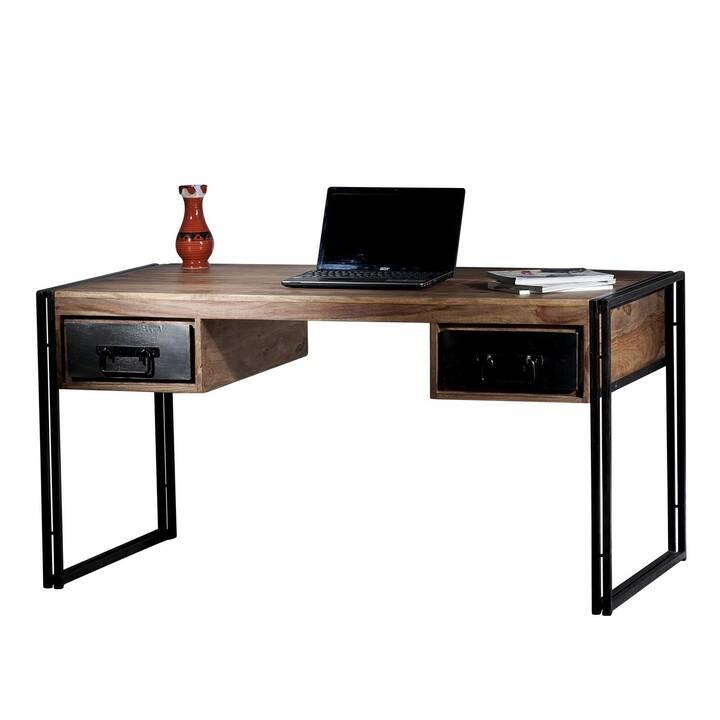 SIT-MÖBEL Schreibtisch (Braun, Schwarz, 150 cm x 80 cm x 76 cm)