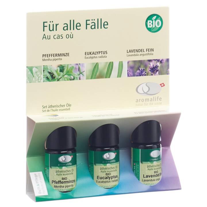AROMALIFE Huile essentielle (Menthe poivrée, Eucalyptus, Lavande, 15 ml)