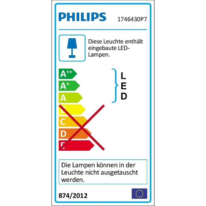 PHILIPS HUE Lampada da parete Resonate (LED incorporato, 16 W, Nero)