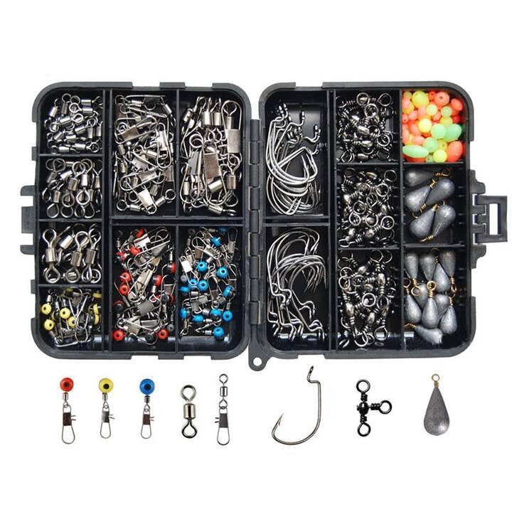 EG scatola per attrezzatura da pesca - 177 pezzi