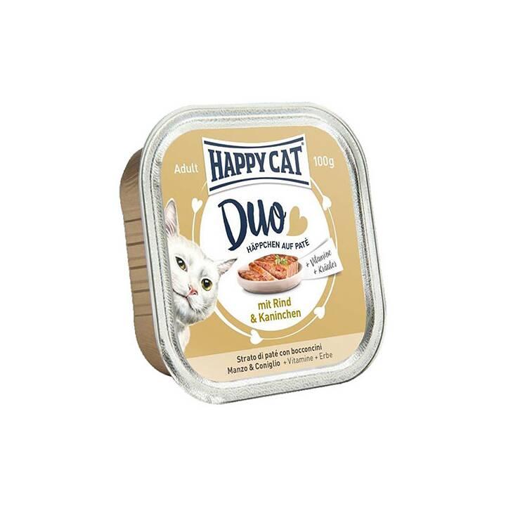 HAPPYCAT Duo (Adult, 100 g, Kaninchen, Rind)