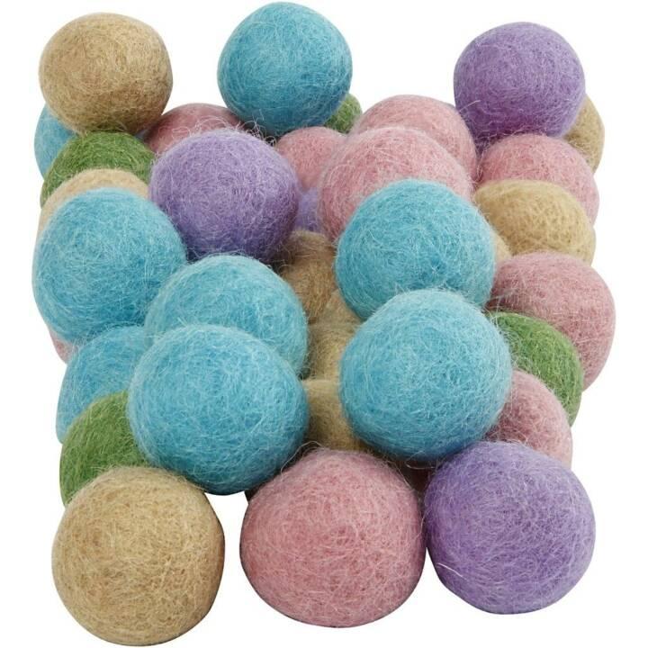 CREATIV COMPANY Fil (Turquoise, Pink, Vert, Violet, Feutre)
