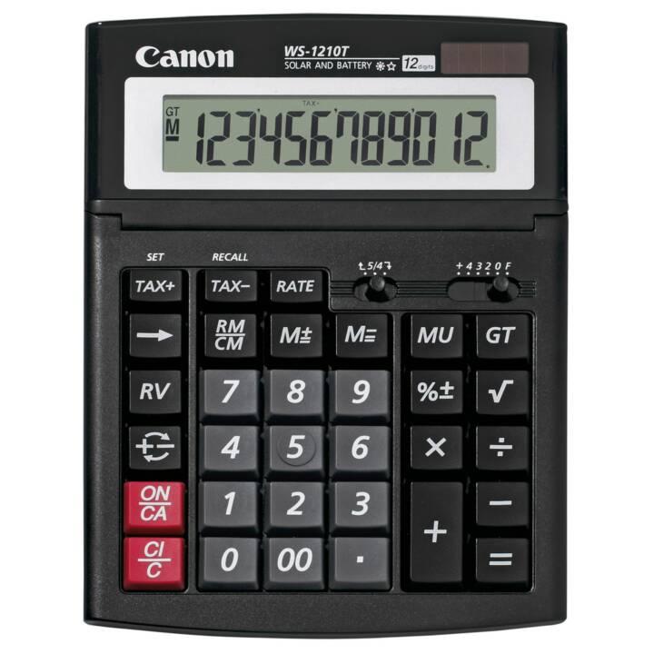 CANON WS-1210T Tischrechner (Standard Batteriebetrieb, Solarzellen)