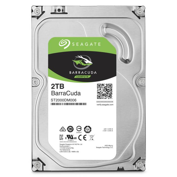 SEAGATE Barracuda 2 TB HDD SATA 6Gb/s