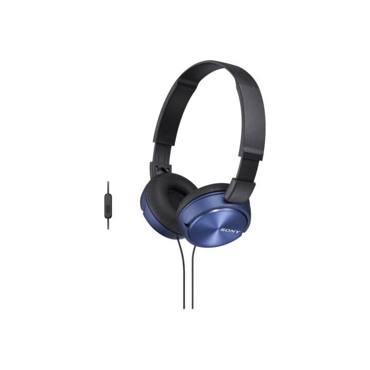 SONY MDR-ZX310L (On-Ear, Bleu, Noir)