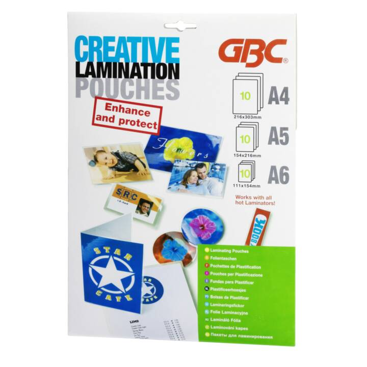 GBC Laminat-Folie Pouchesset A4/A5/A6 10 Stück