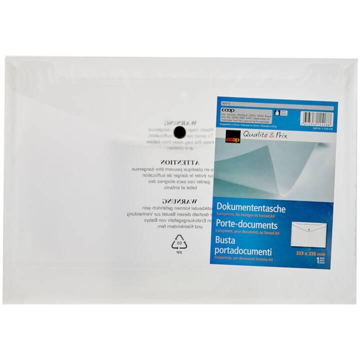 COOP QUALITÉ & PRIX Pochette courier (A4, Transparent, 1 pièce)