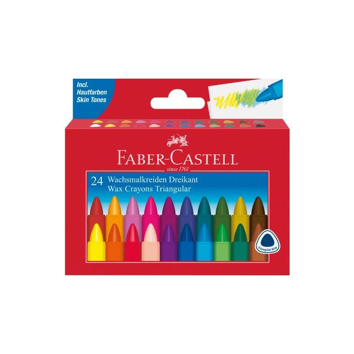 FABER-CASTELL Cire à craie triangulaire 24