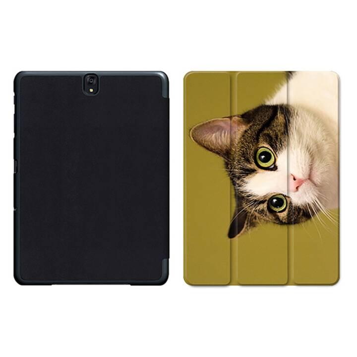 """EG MTT Tablet Tasche mit Smart faltbare Abdeckung für Samsung Galaxy Tab S3 9.7 """"- Cat"""
