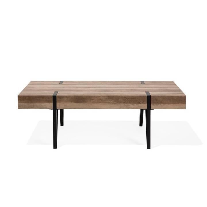 BELIANI Table de salon Adena (40 cm, Brun, Noir)