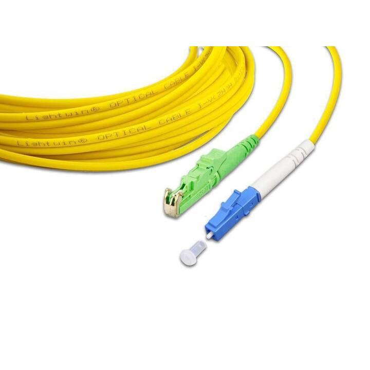 LIGHTWIN Câble réseau (Fiche E-2000 (APC), LC Single-Modus, 5 m)