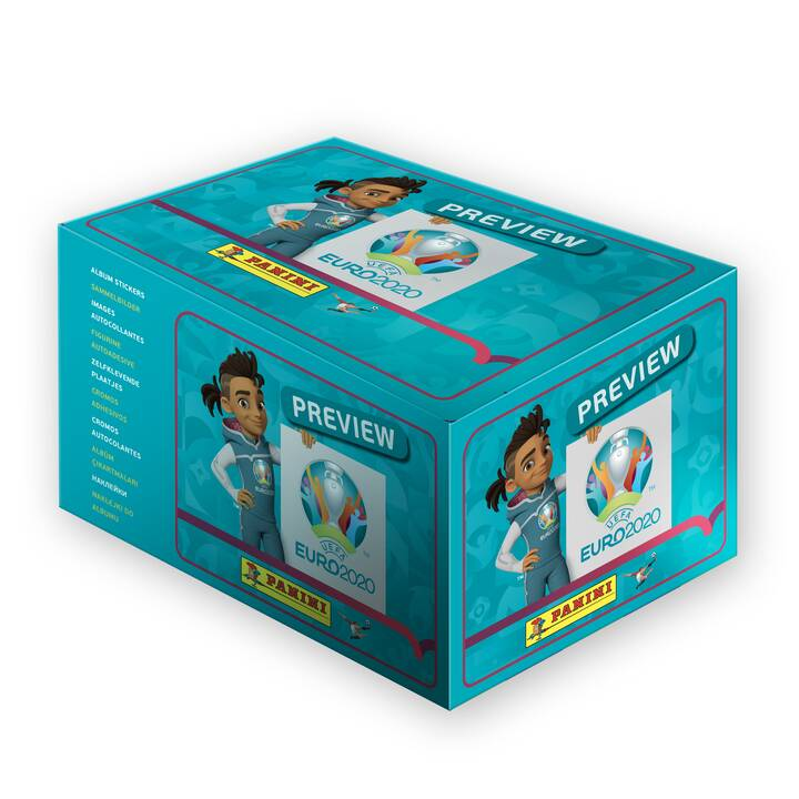PANINI Uefa Euro 2020 Official Stickerbox Preview Edition (120 Packs) Sammeln (Sport)
