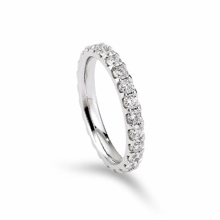 MUAU Anello memoria (57, 0.75, Oro bianco, Diamante)