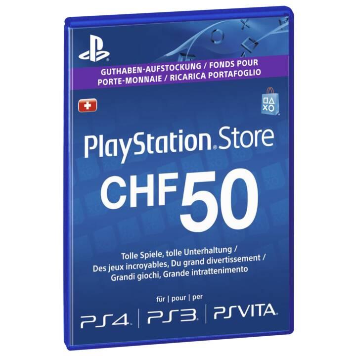 PSN Live-Card CHF 50 (PKC, IT, DE, FR)