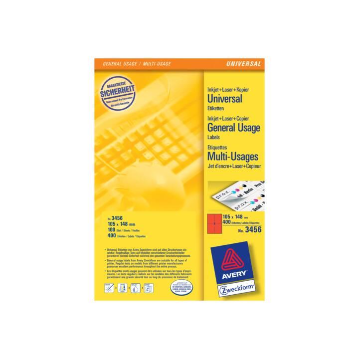 AVERY ZWECKFORM Etiketten, 105x148mm, A4, 400 Stück
