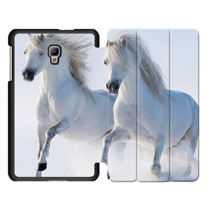 """EG MTT Tablet Tasche mit Smart faltbare Abdeckung für Samsung Galaxy Tab A 8"""" (2017)- Pferd"""