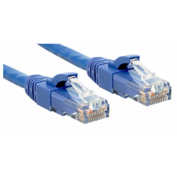 LINDY Premium Premium Câble Patch 30 cm Bleu