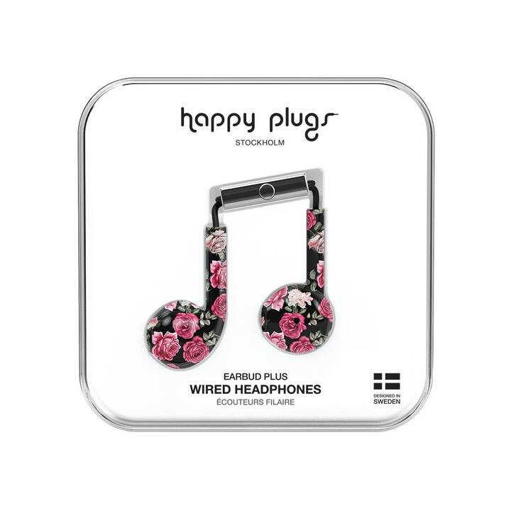HAPPY PLUGS Vintage Roses (Earbud, Multicolore)